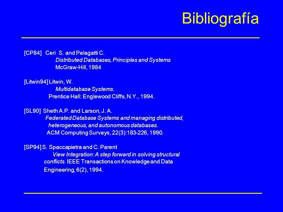 Bibliografía [CP84] Ceri S. and Pelagatti C.